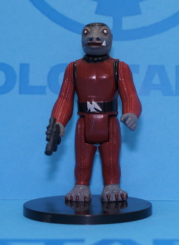 Star Wars Vintage Kenner Snaggletooth Rojo PBP Scarred 1978