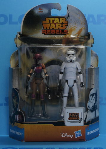 Sabine Wren & Stormtrooper Rebels Saga Legends Series Nº8 2015